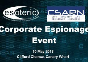 CSARN Corporate Espionage Event