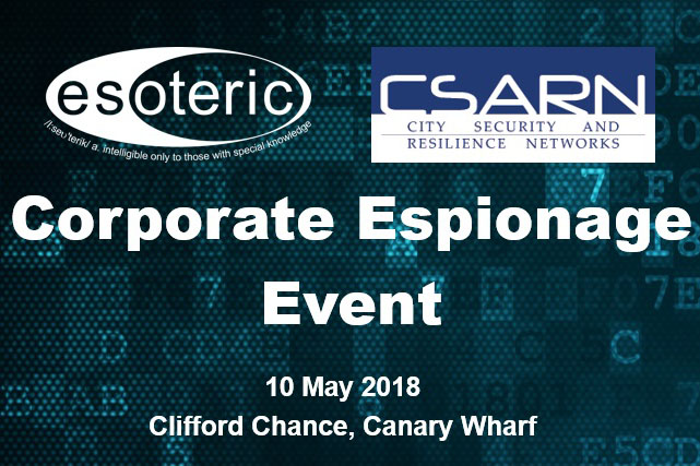 CSARN Corporate Espionage Event