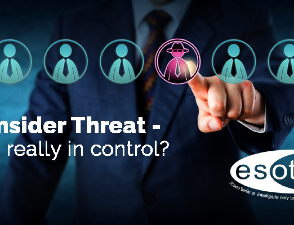 Esoteric to speak at CSARN's Insider Threat event